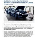 Sanktionen EU Kosten Autohersteller Russland € 15 Milliarden Umsatz