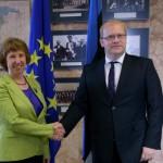 EU-chef Ashton Estlands Außenminister Urmas Paet