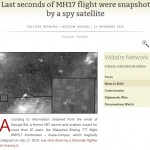 Snapshot spy satellite MH17 flight