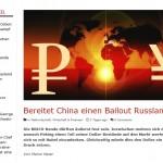 Bereitet China Einen  Bailout Russlands Vor