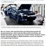 EU Sanctionen Russland KostenVW-Audi-Opel 15 Miljarden Umsatz