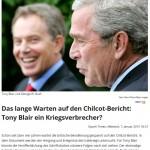 Tony Blair und George W.Busch Kriegsverbrecher
