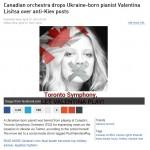Toronto bans Ukraine pianist Lisitsa