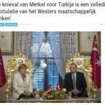 Merkel maakt knieval voor Erdogan