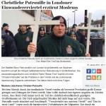 Christliche Patrouille in London